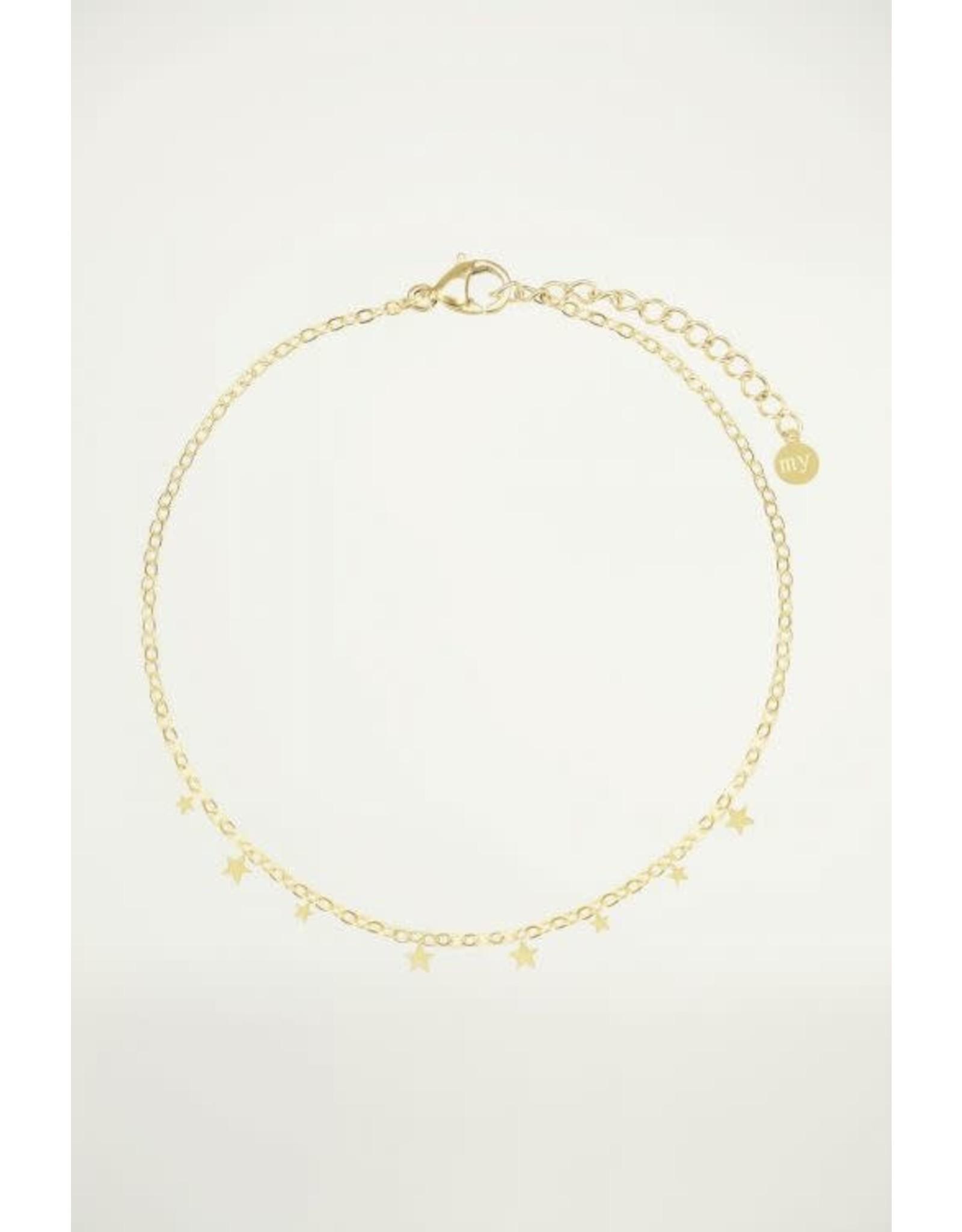 Armband kleine sterretjes goud