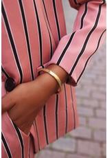 Vaste Armband Schubben Goud