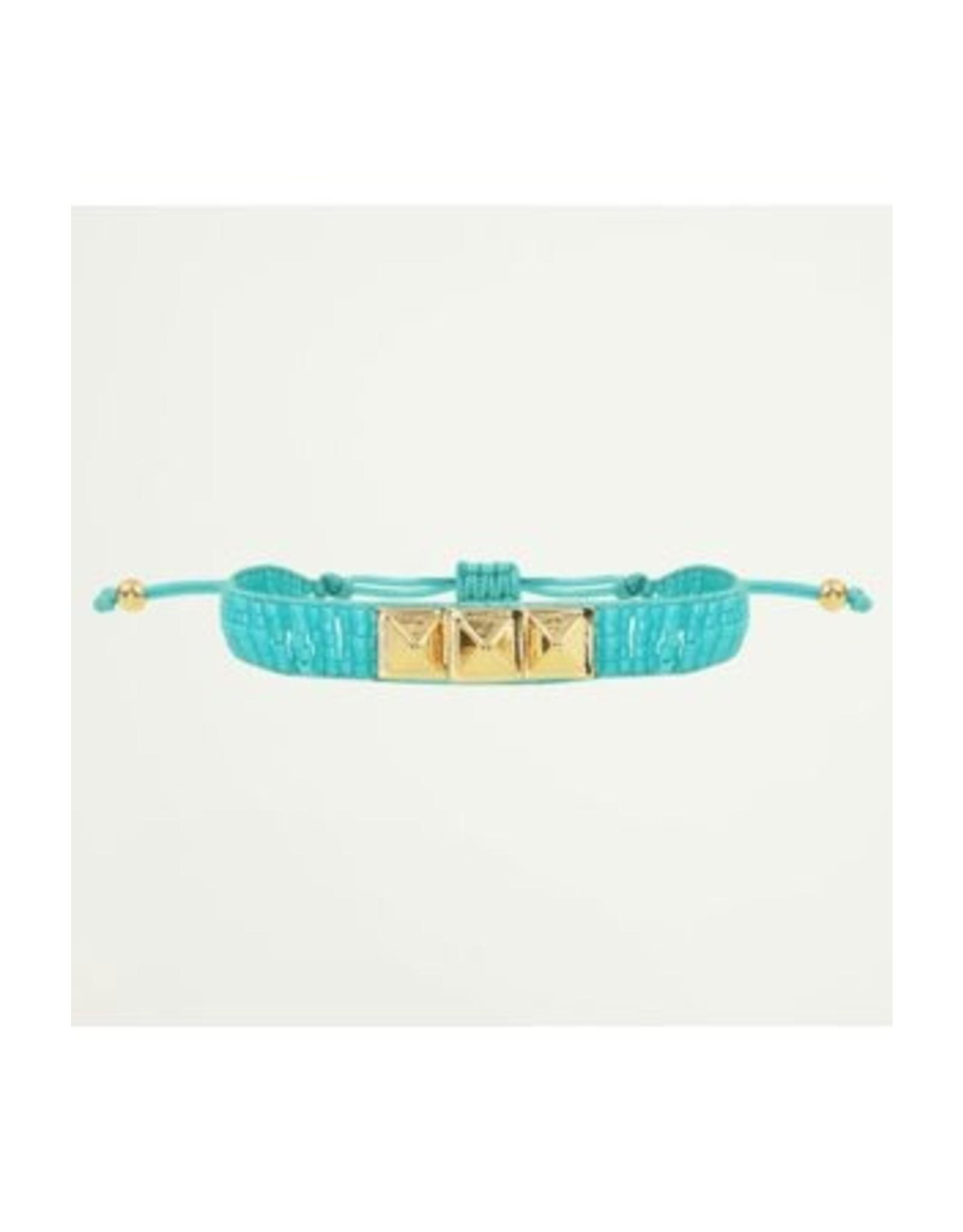 Armband Kralen Turquoise Studs