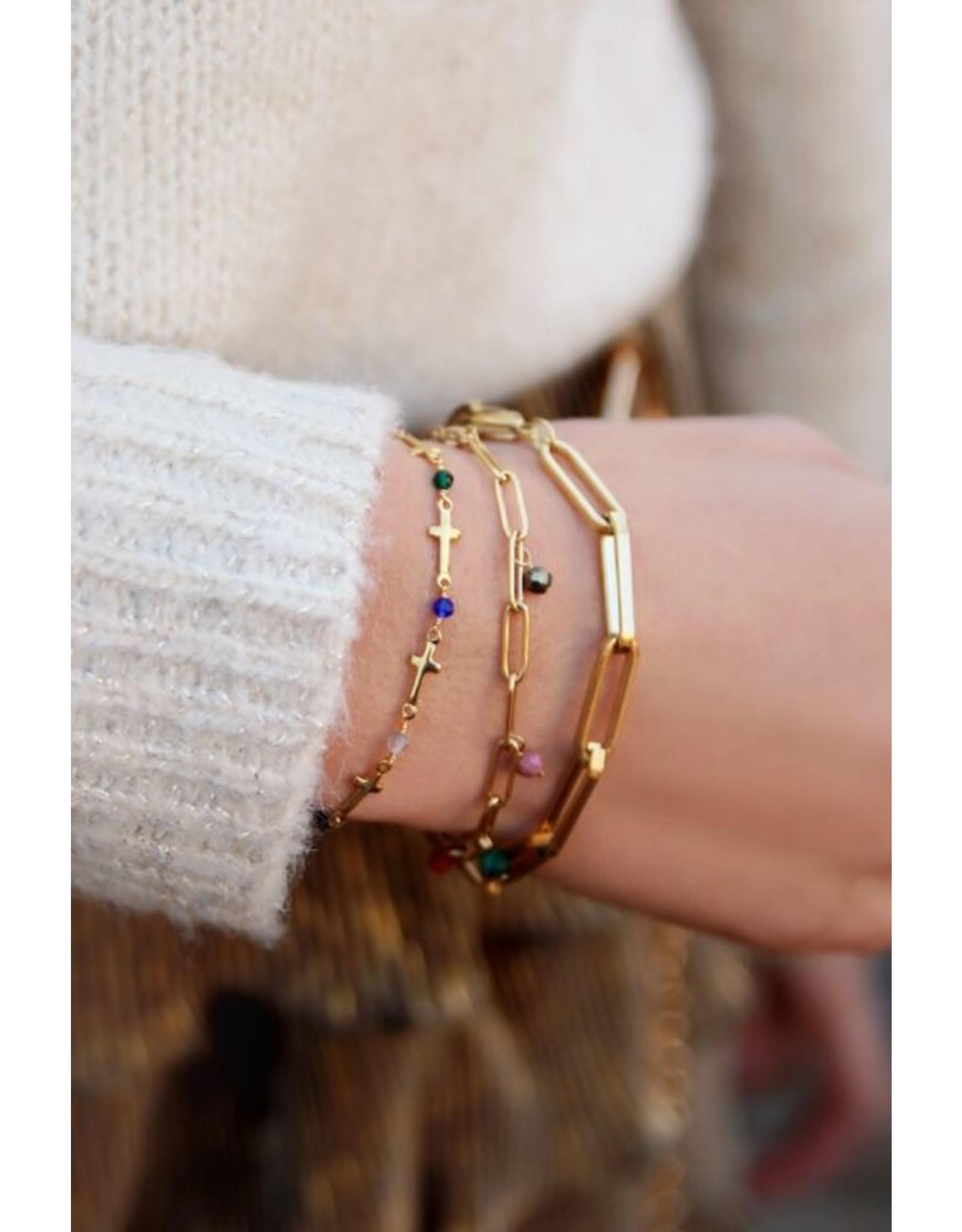 Armband Grote Schakel Goud