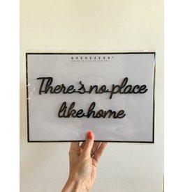 Zelfklevende Quote A4 Black No place like home