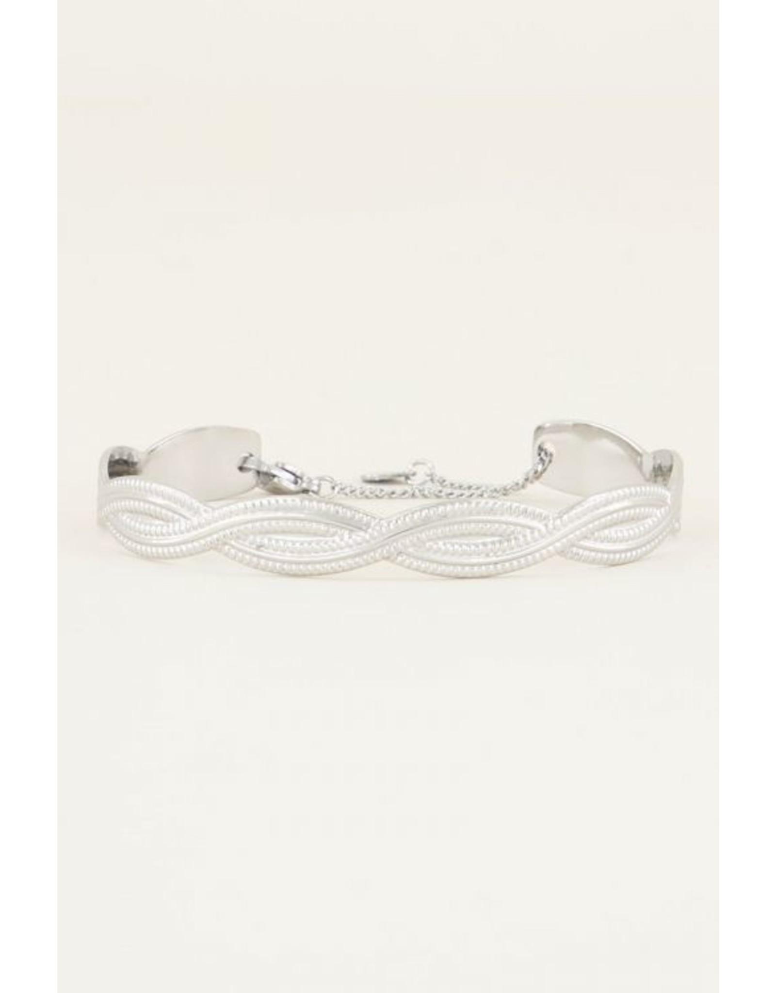Vaste Armband Gevlochten Zilver