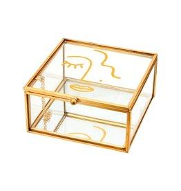 Juwelenbox Glas Gezicht