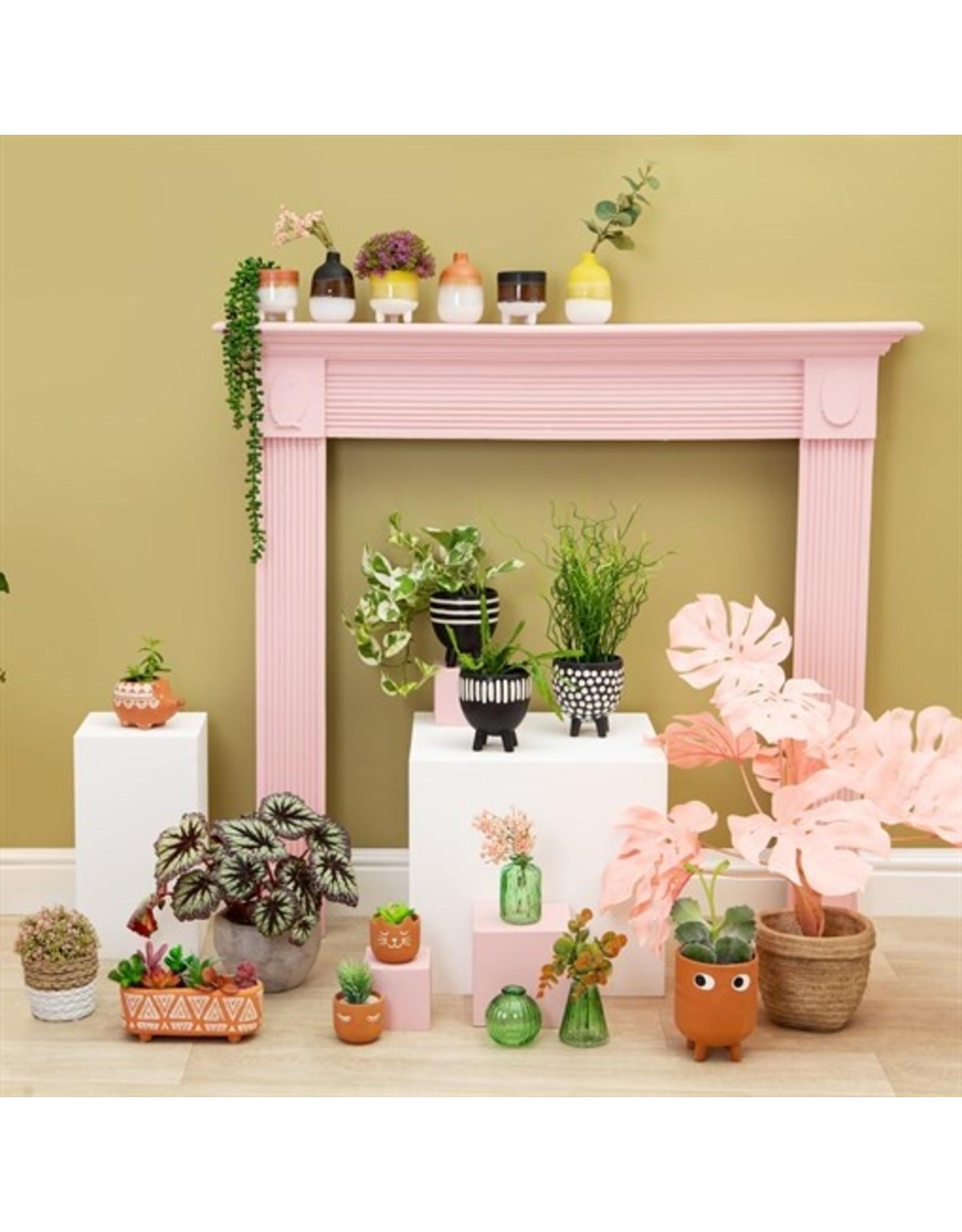 Plantenpot Zwart Streep Verticaal