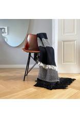 Plaid Fringe Zwart Wit