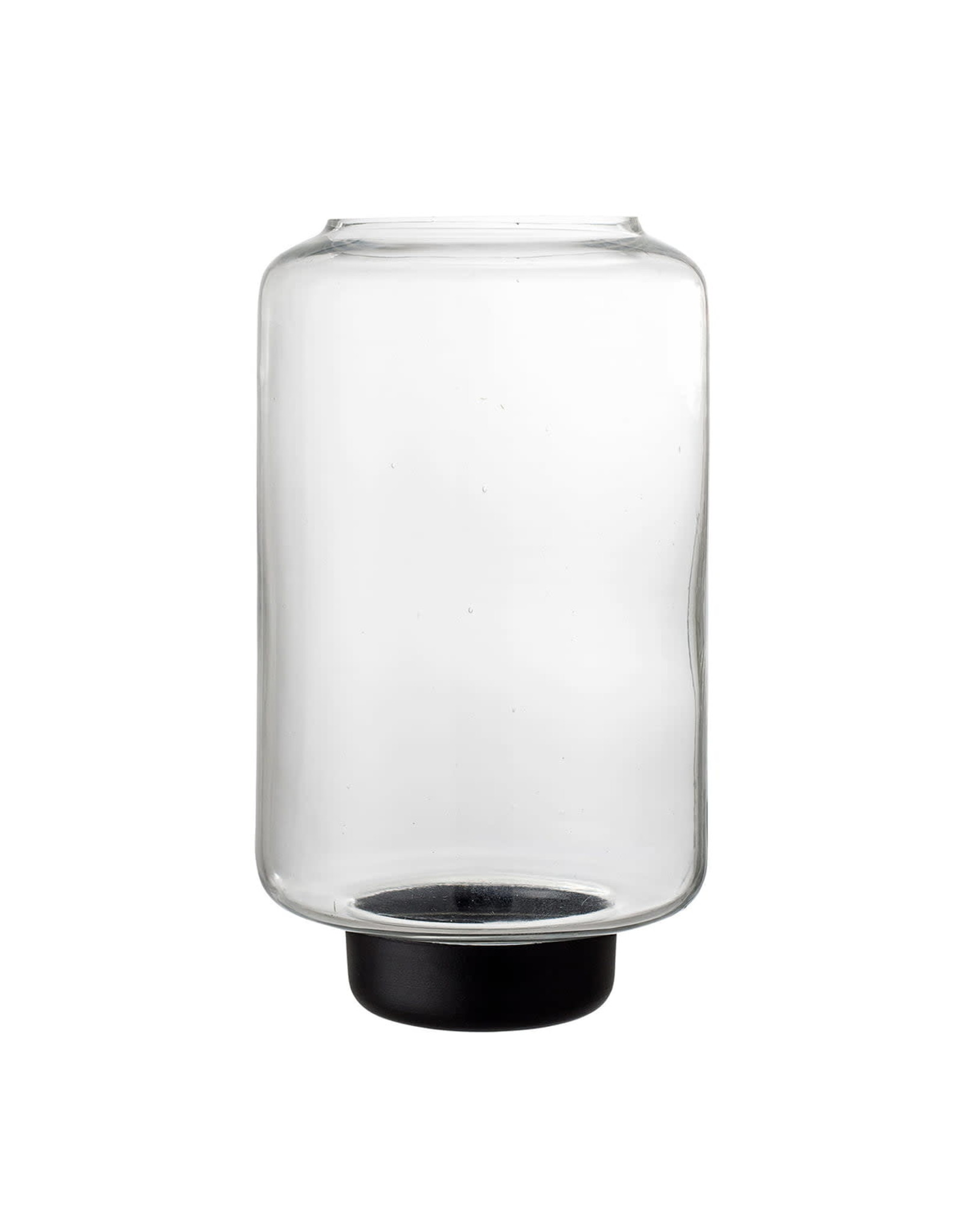Windlicht Glas Zwart Medium