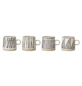 Set van 4 tassen
