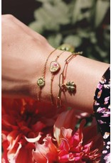 Armband madeliefje goud