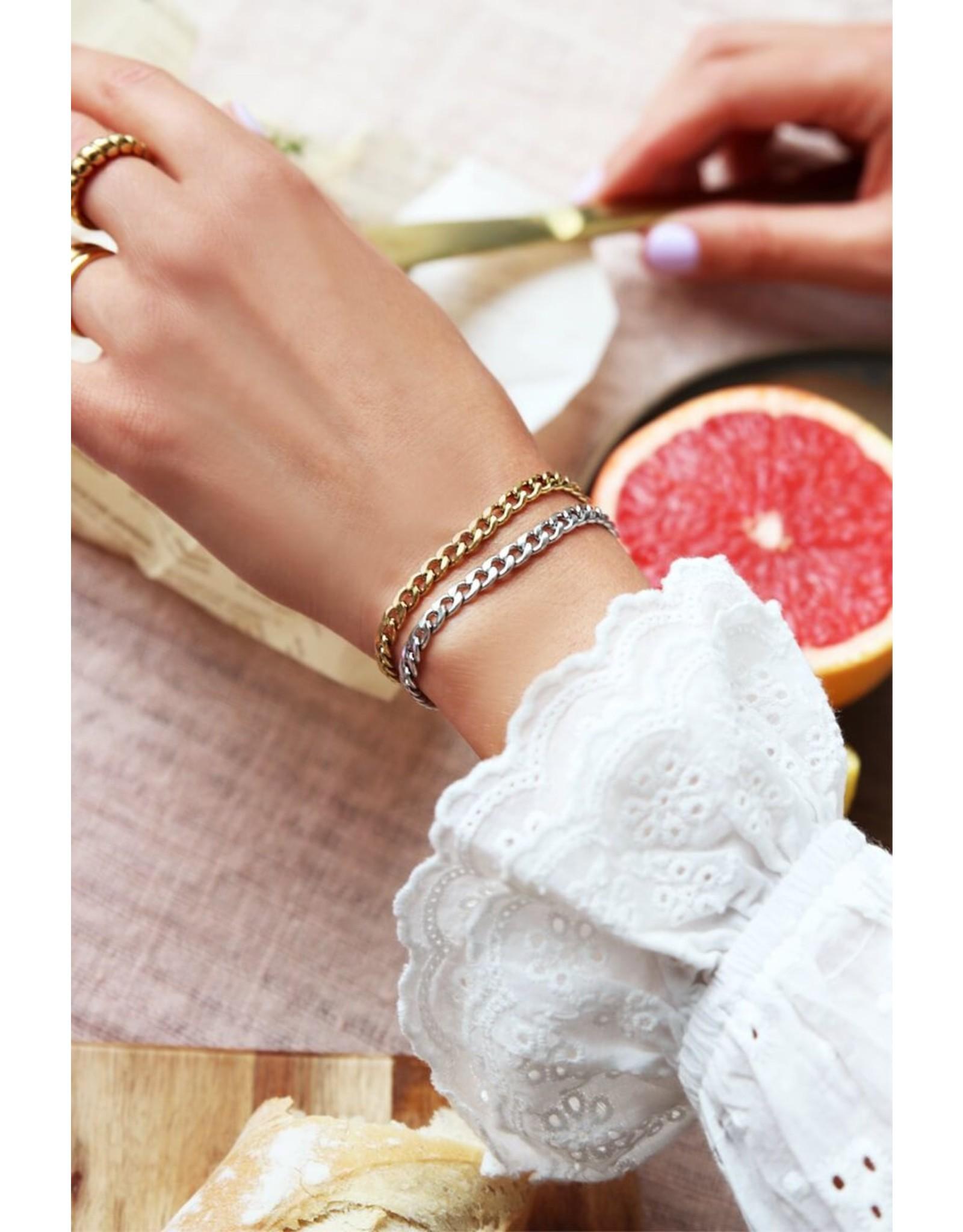 Armband platte schakel