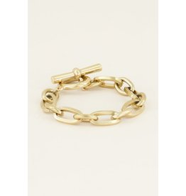 Armband goud schakel