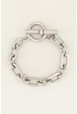 Armband zilver schakel