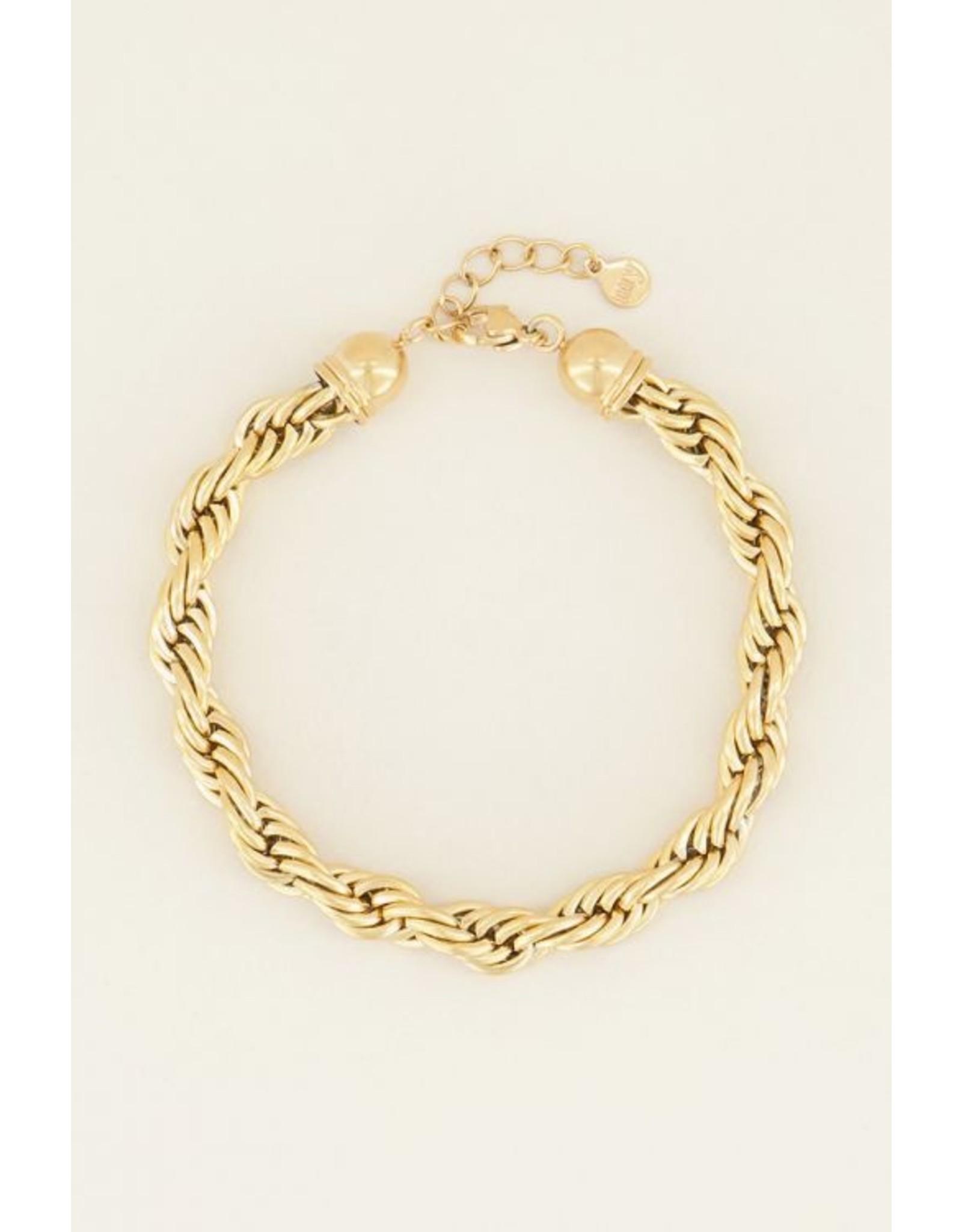 Armband goud gedraaid