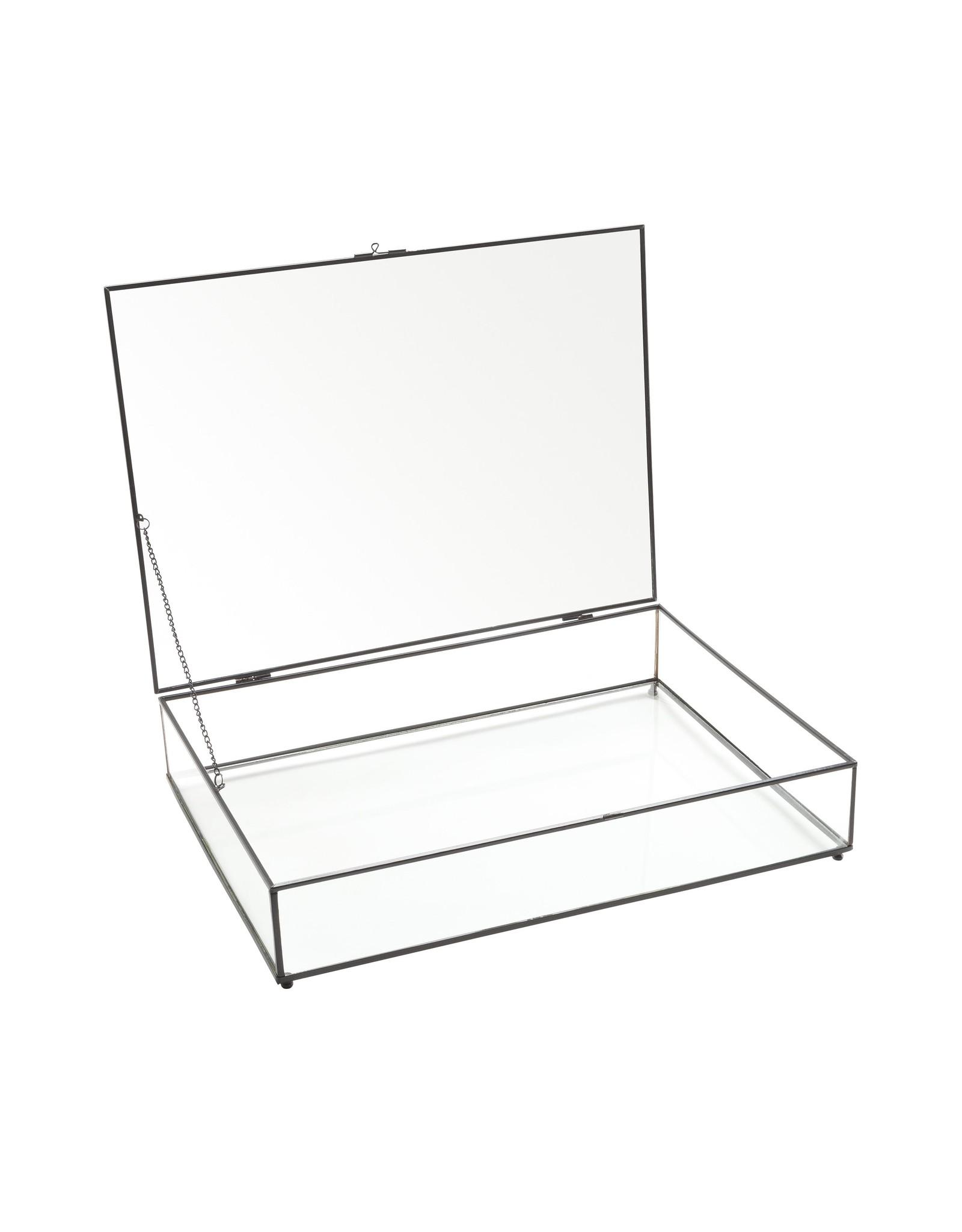 Glazen Kistje Zwart Frame XL