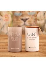 Geurkaars Wit 'Wine'