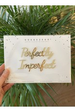 Zelfklevende Quote A5 Gold Perfectly Imperfect