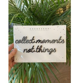 Zelfklevende Quote A5 Black Collect moments