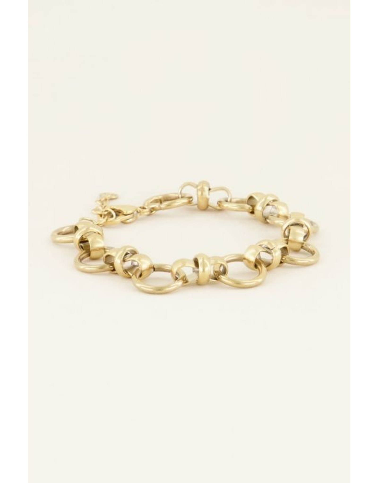 Armband schakels rond goud