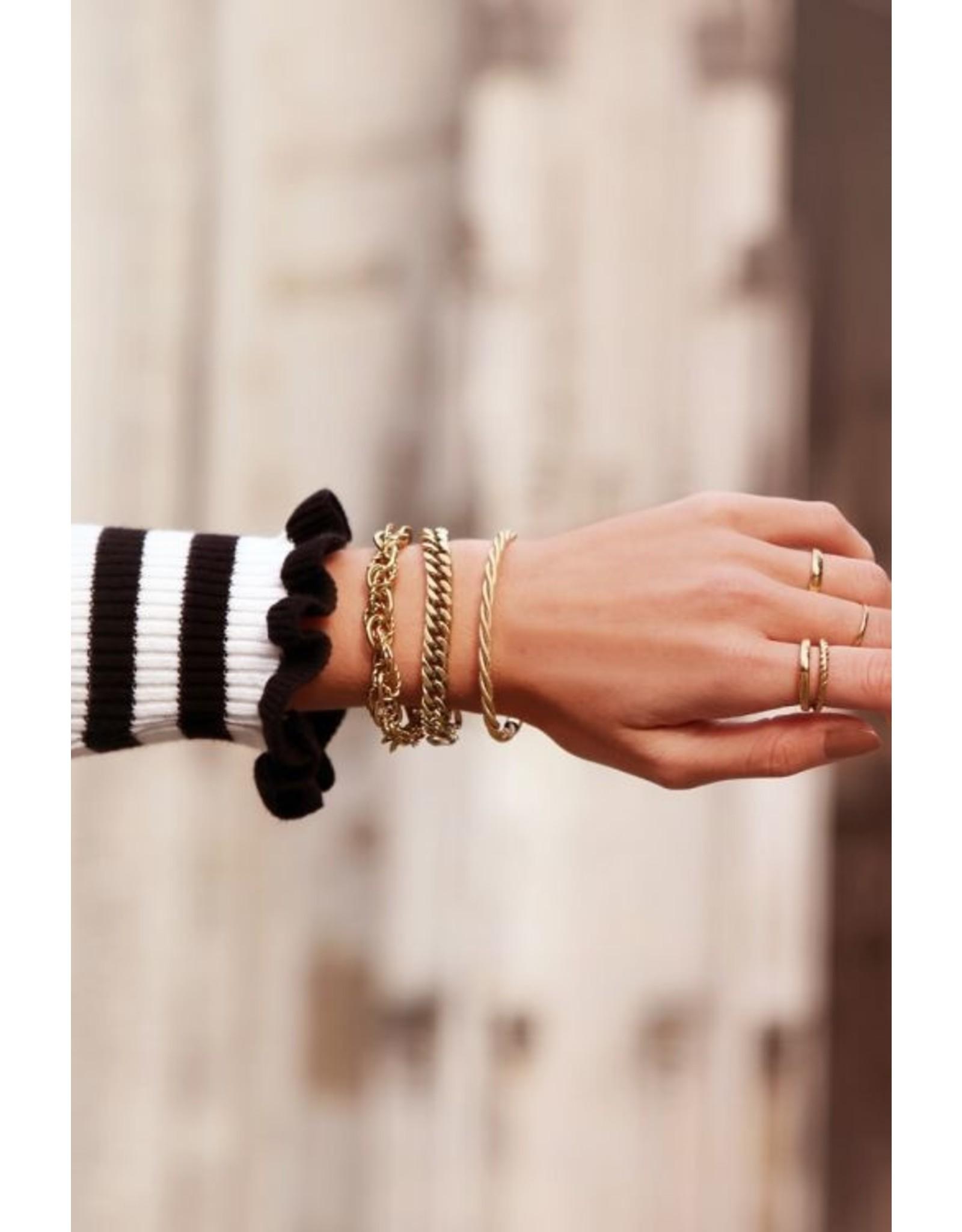 Armband verschillende schakels goud