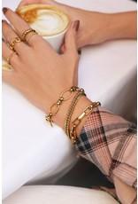 Armband ovale schakels goud
