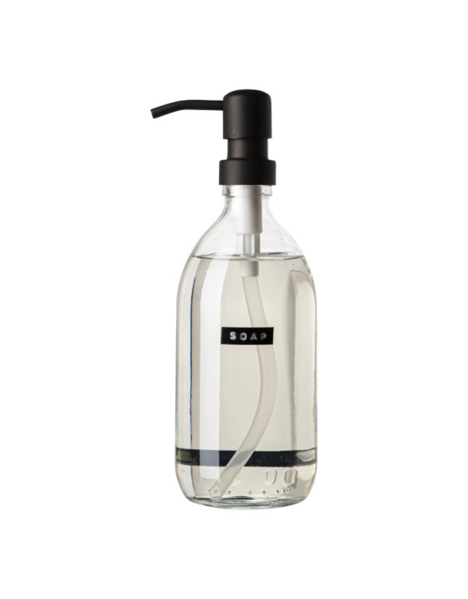 Zeeppomp glas black 500ml 'Soap'