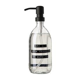 Zeeppomp glas black 500ml 'May all ...'