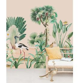 Behangpapier tropische vogel