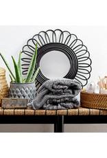 Spiegel bamboe zwart