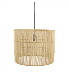 Rotan hanglamp rond