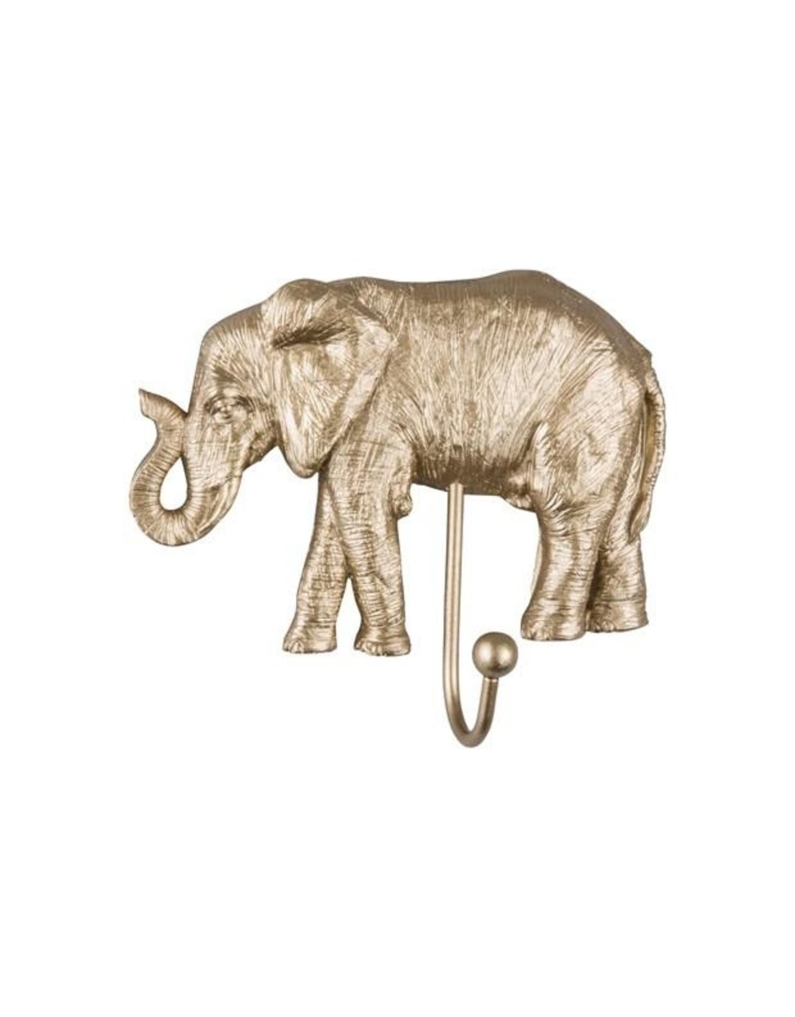Kapstok olifant goud