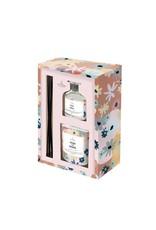 Gift box kaars & geurstokjes 'hugs and kisses'