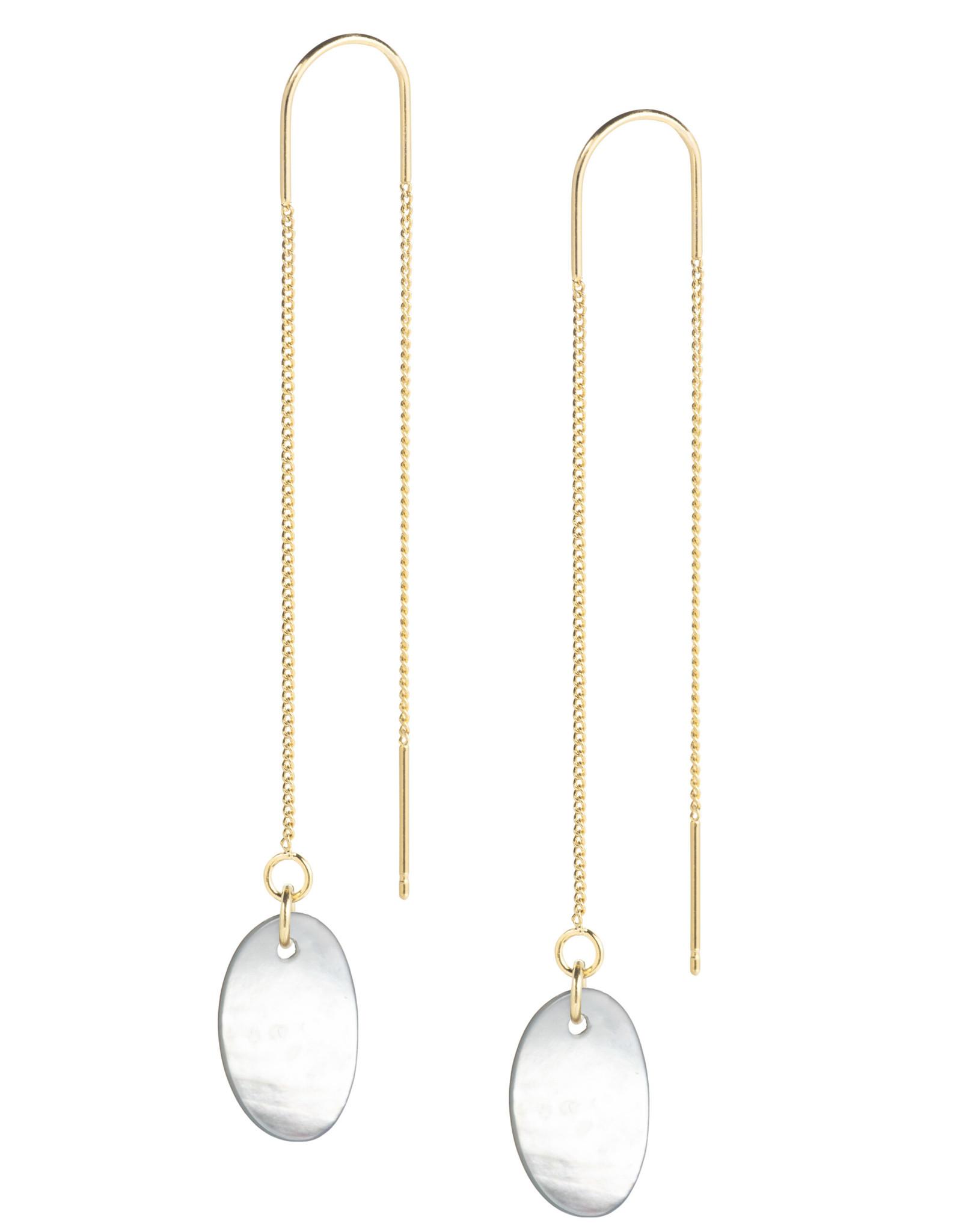 Earthreads organische hanger parelmoer wit