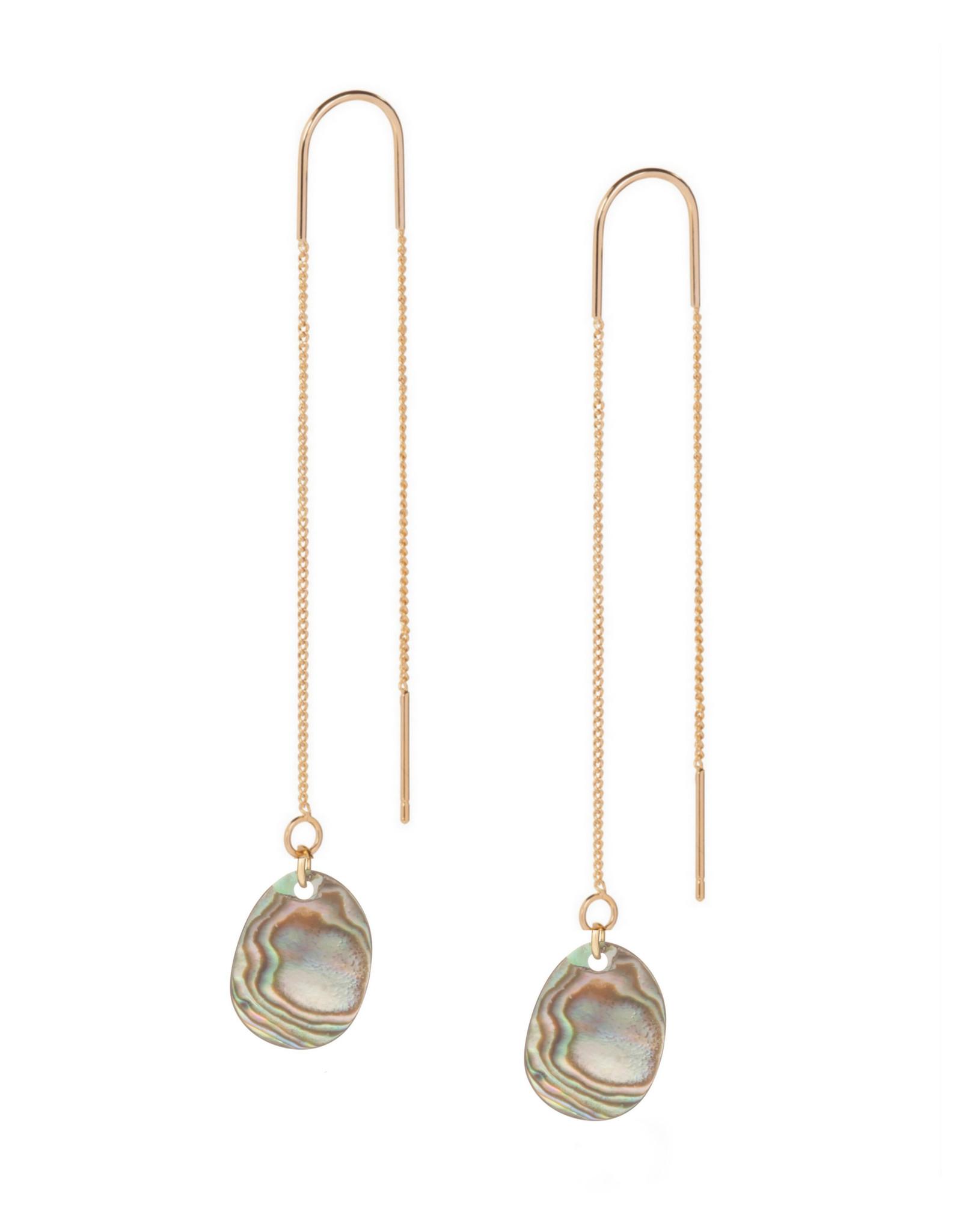Earthreads organische hanger parelmoer grijs