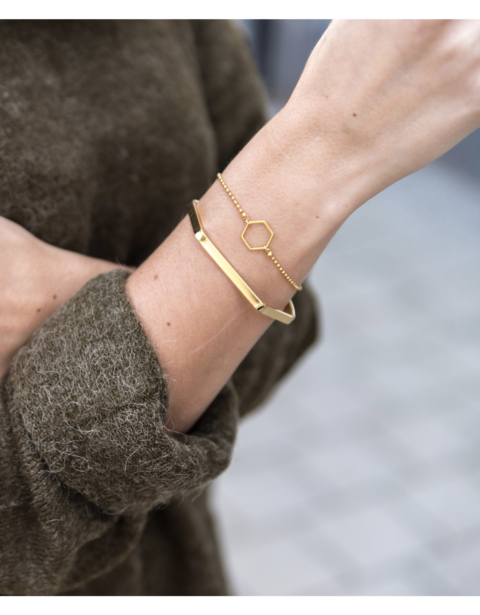 Armband bangle hexagon