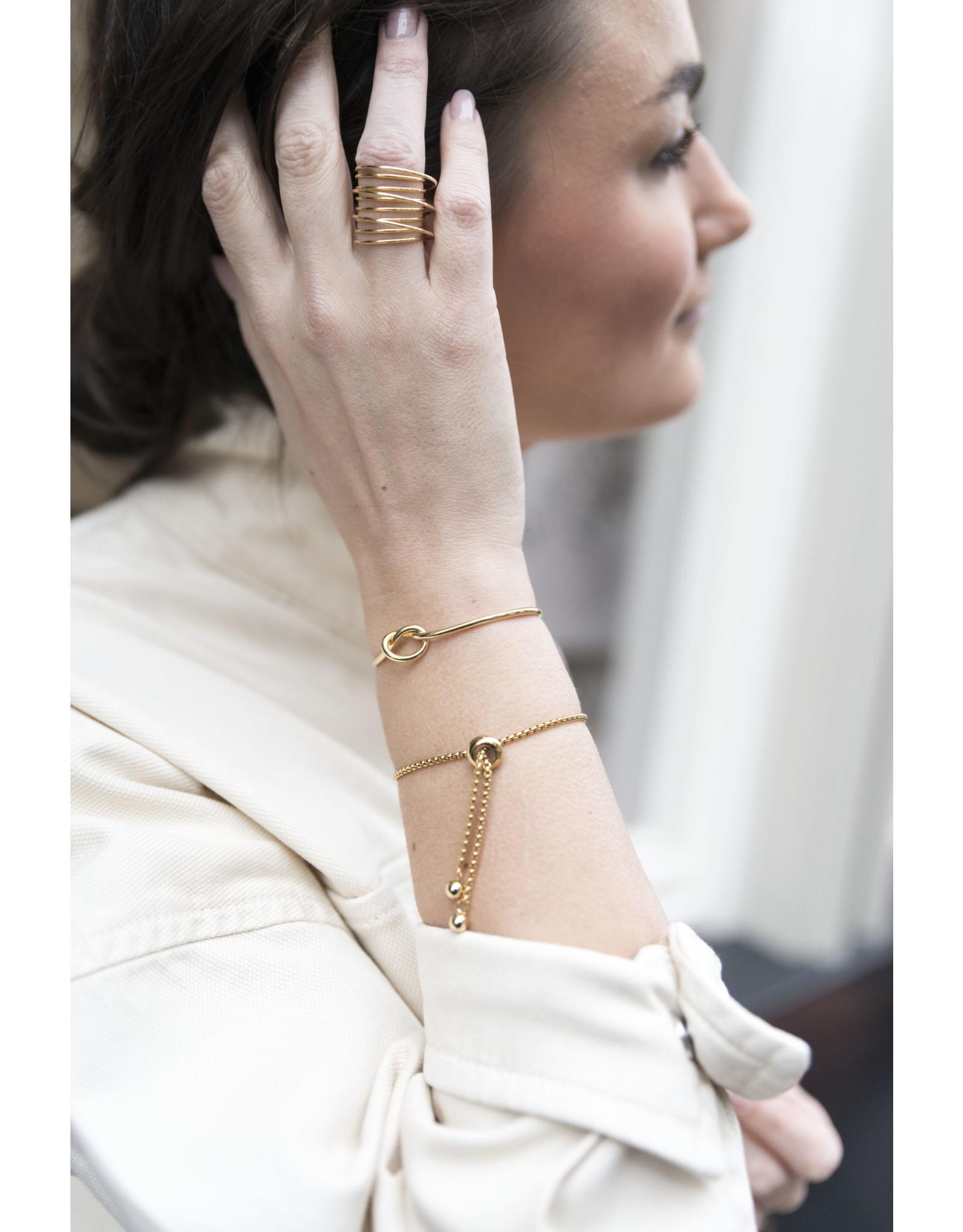 Armband bangle knoop