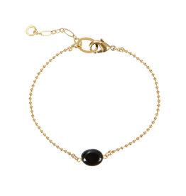 Armband ovaal steentje zwart