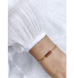 Armband buisje brique