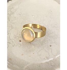 Ring gemstone roze one size