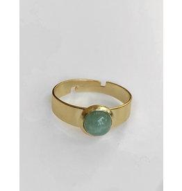 Ring gemstone groen one size