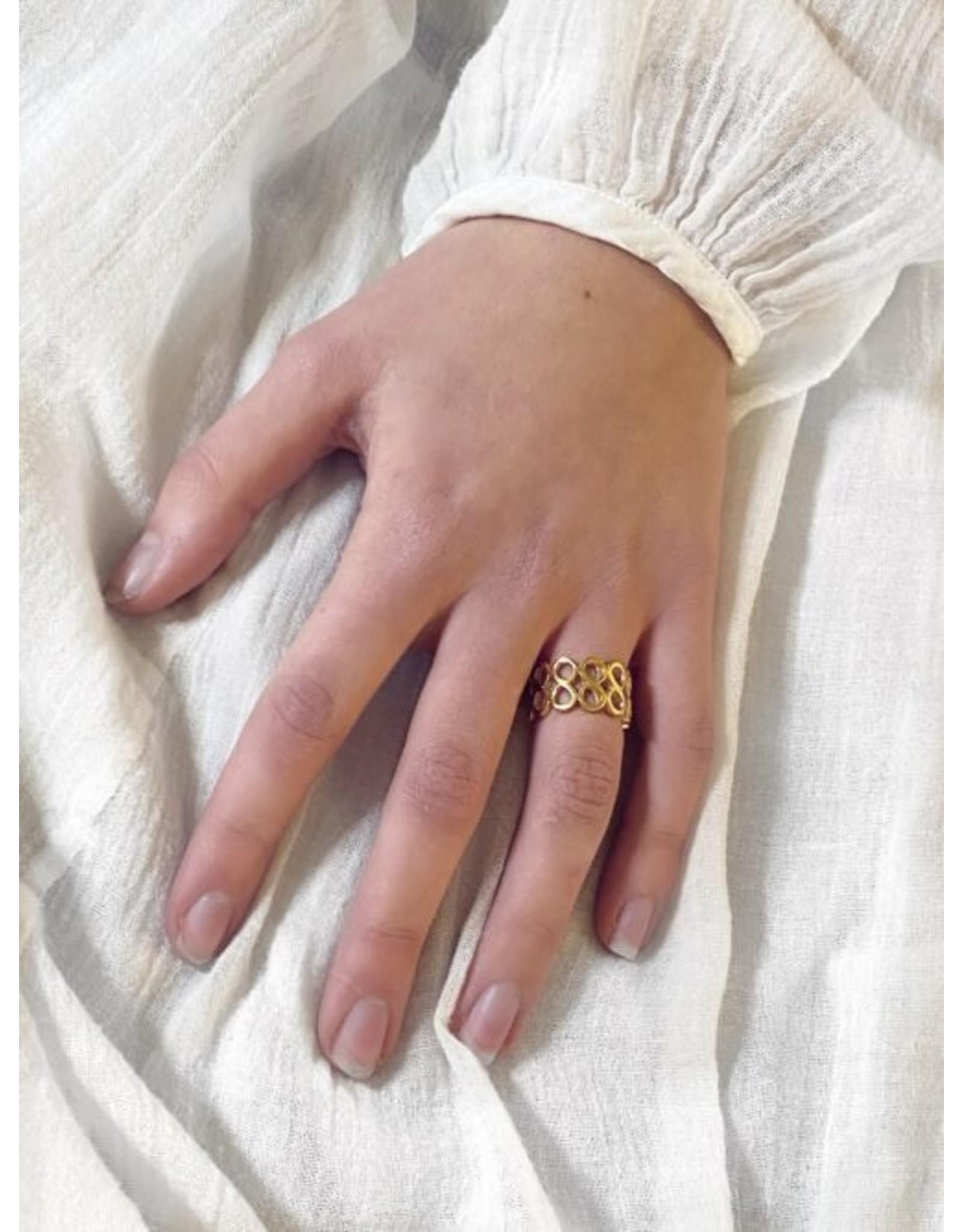 Opengewerkte ring breed