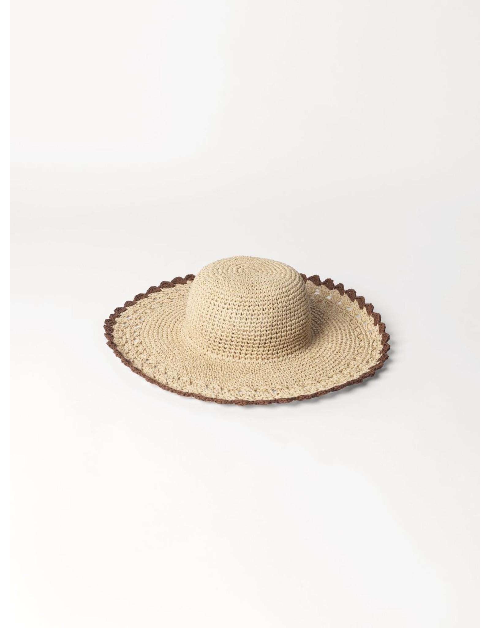 Rieten hoed one size