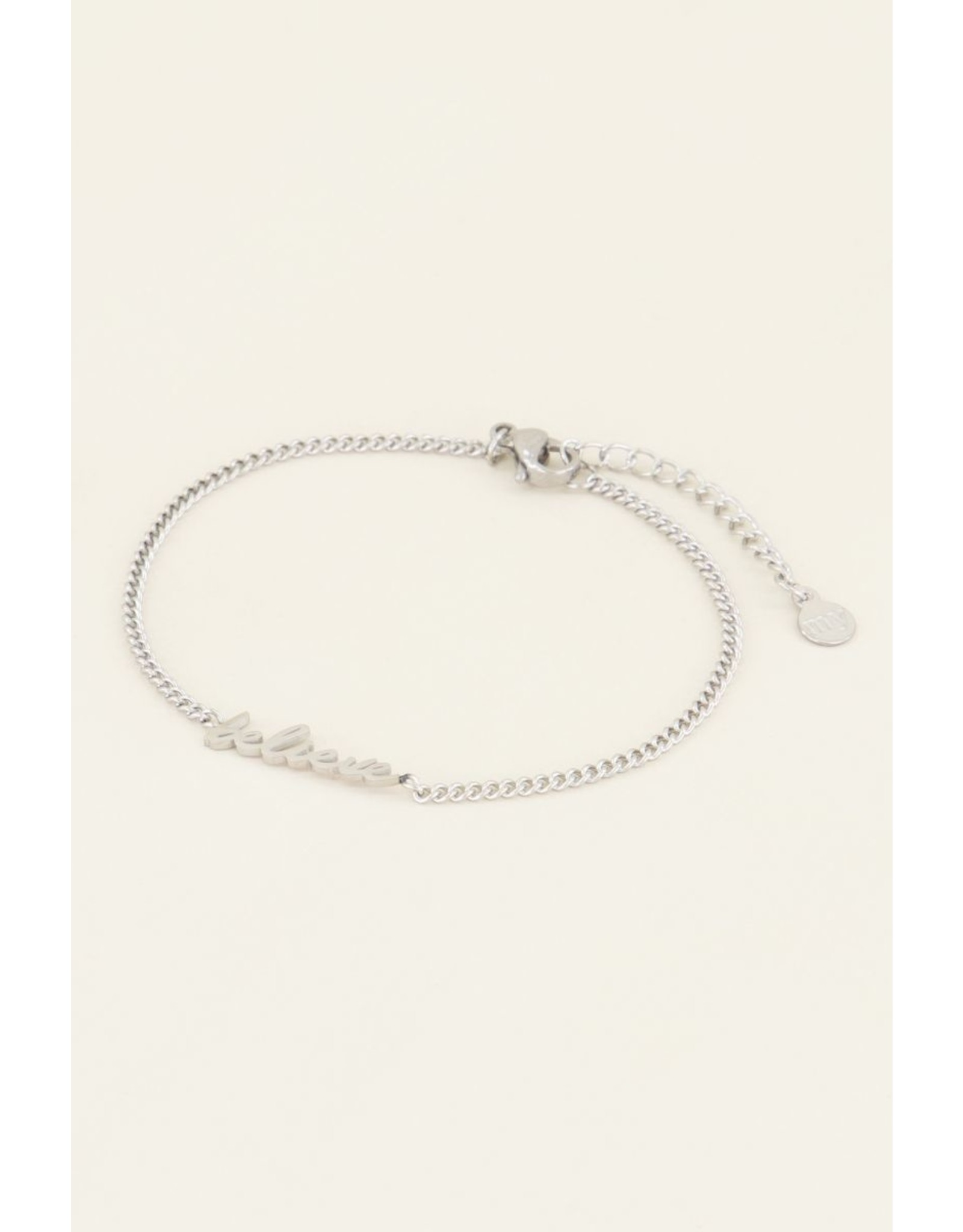 Armband believe zilver