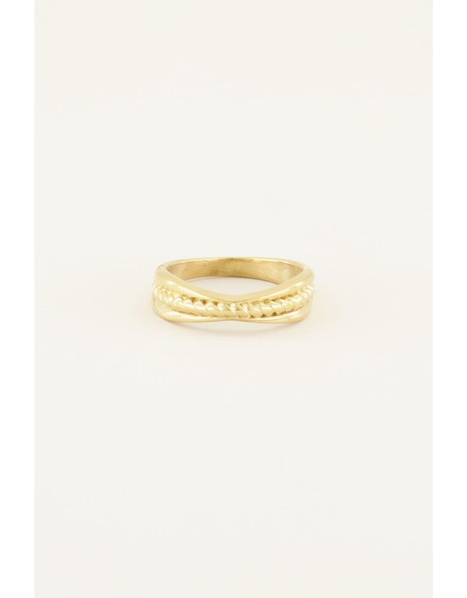 Ring goud gedraaid