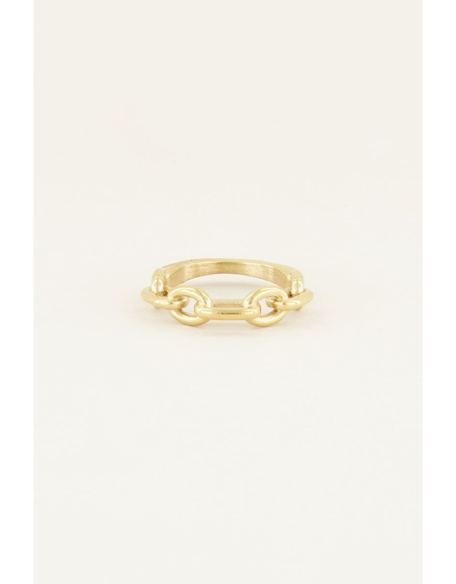 Ring smalle schakel goud