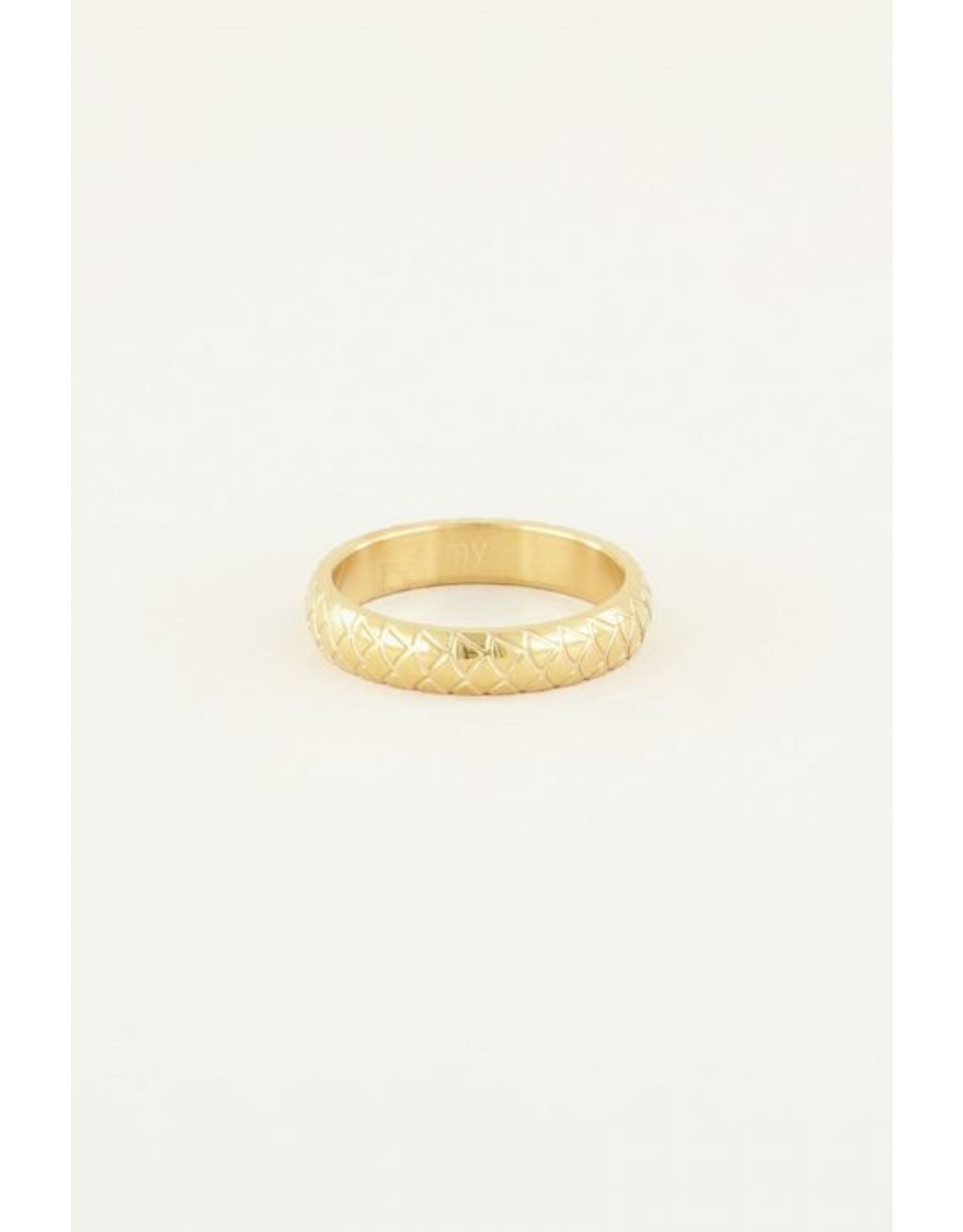 Ring schubben small goud