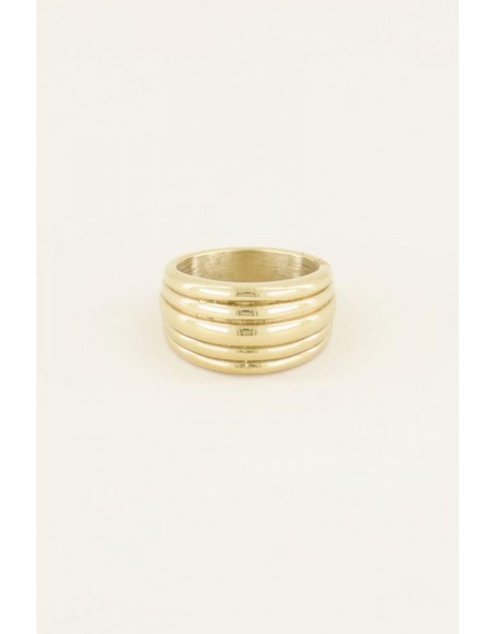 Ring breed toe goud