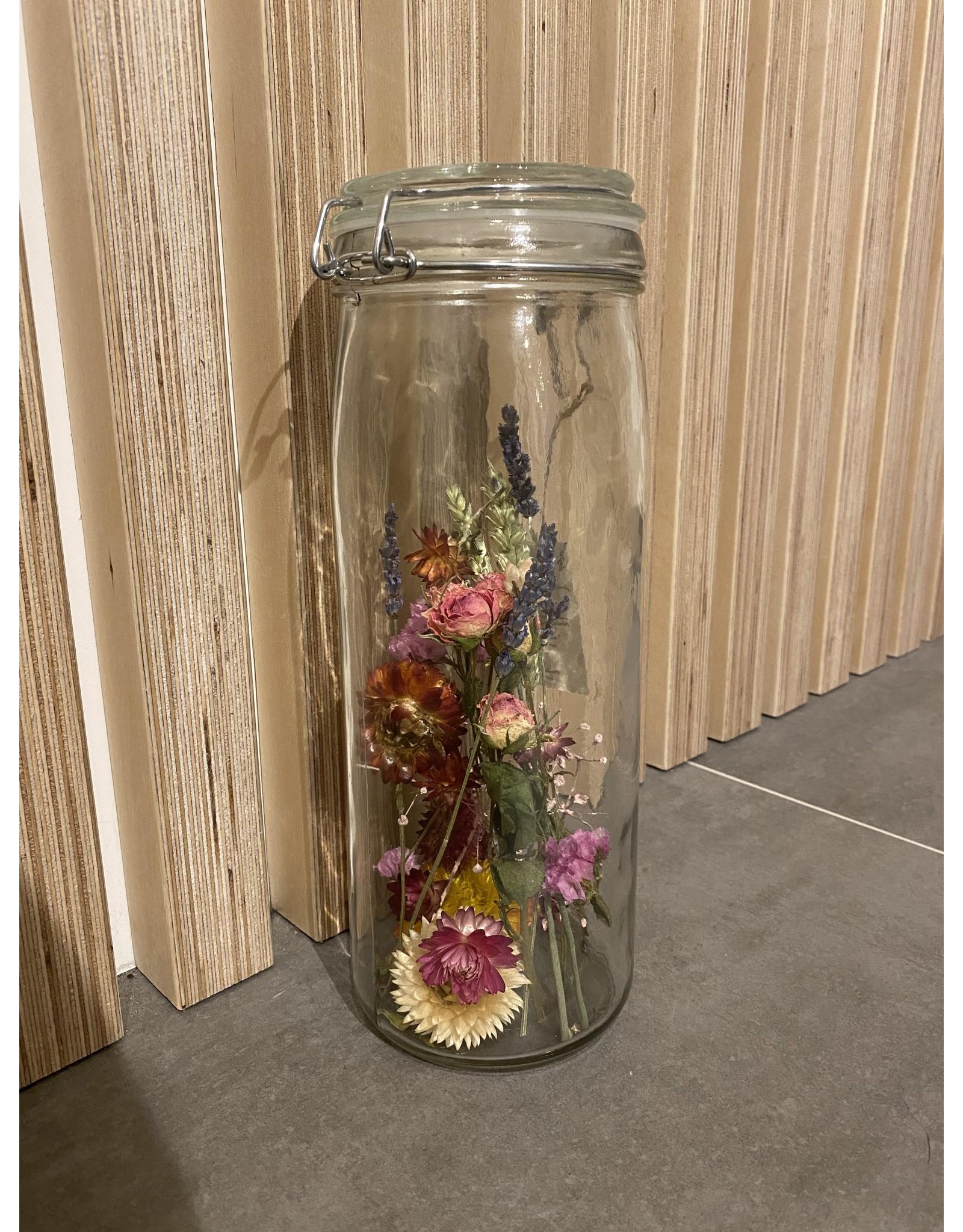 Droogbloemen in glas XL