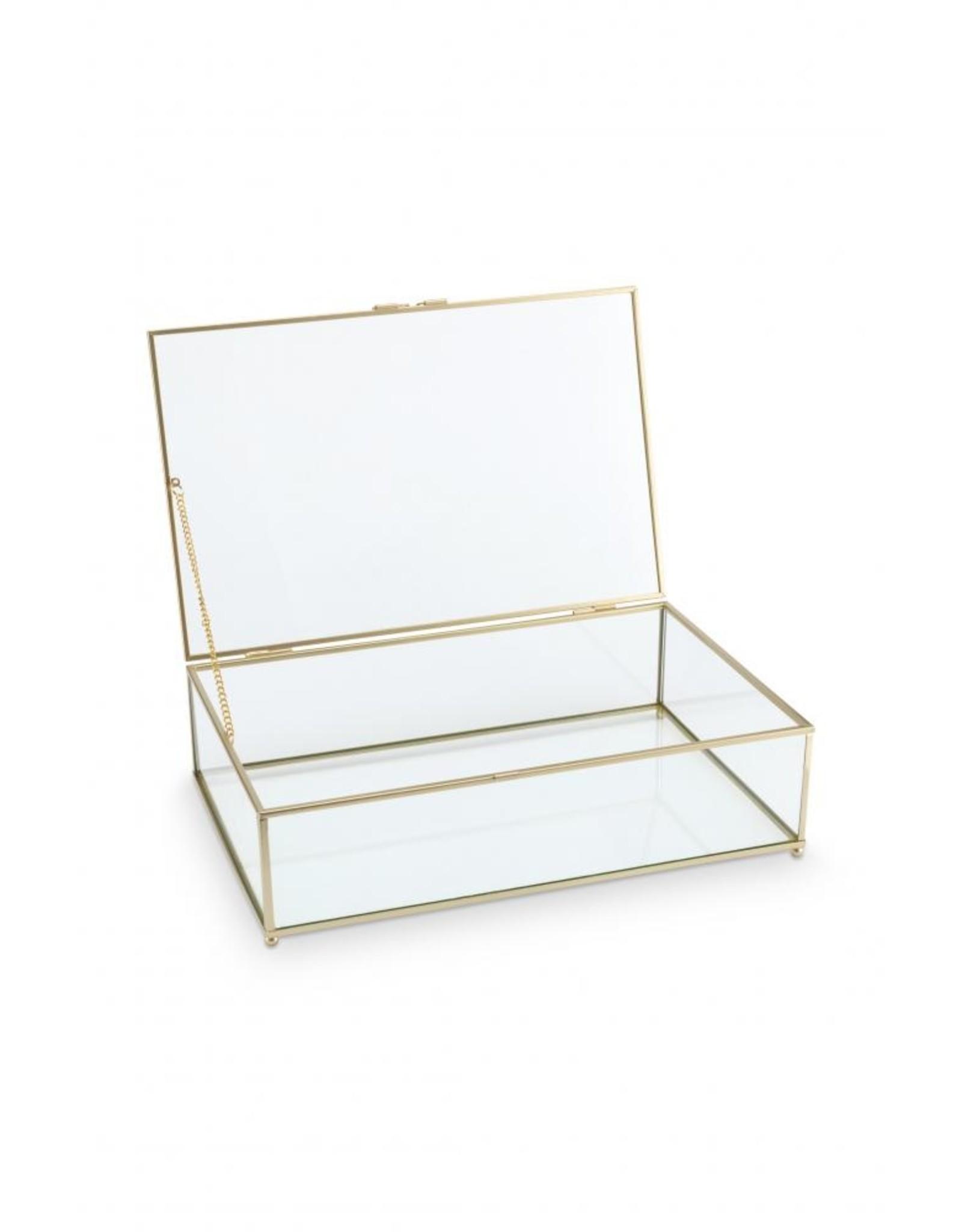 Glazen Kistje Gouden Frame