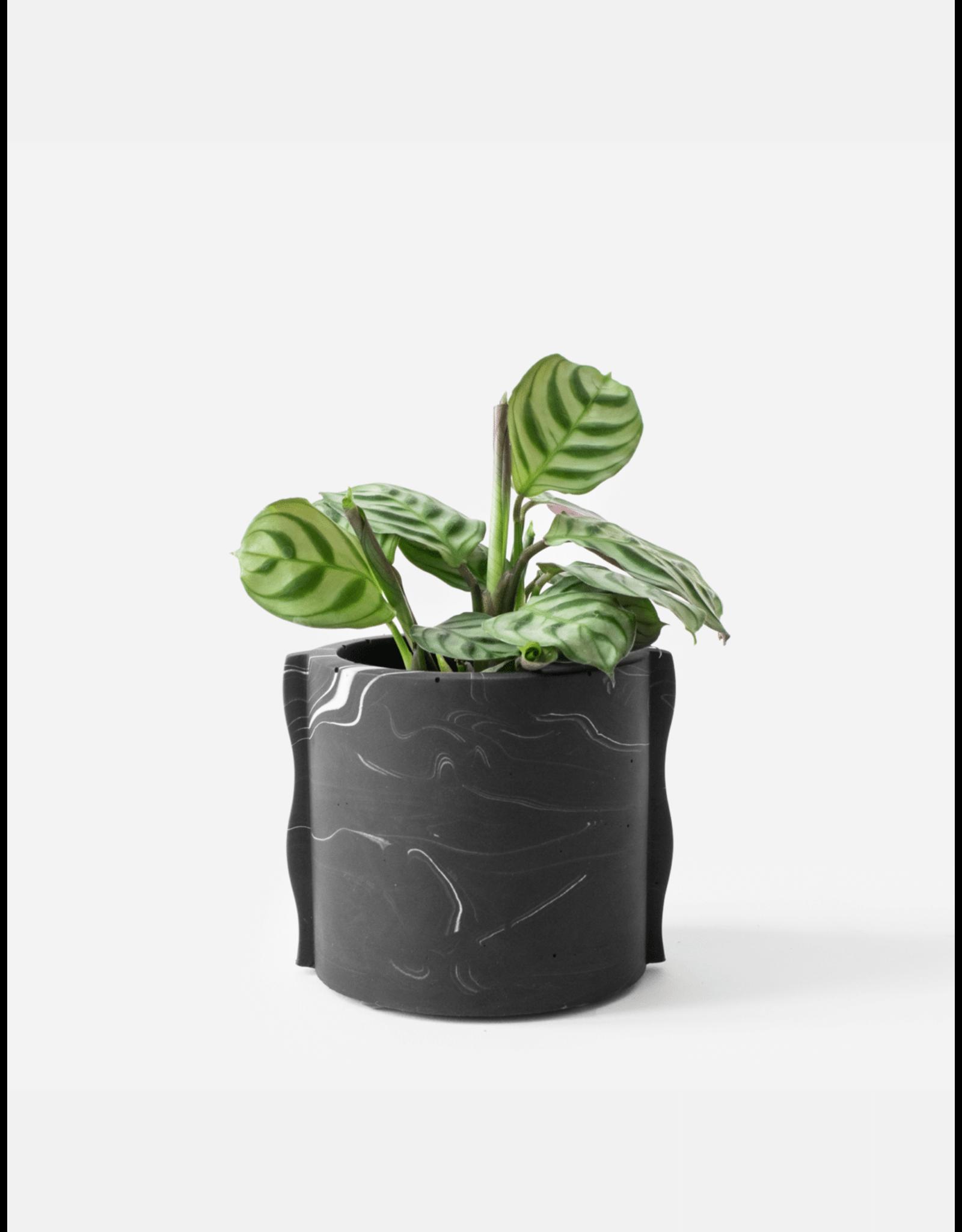 Plantenpot Noah black marble