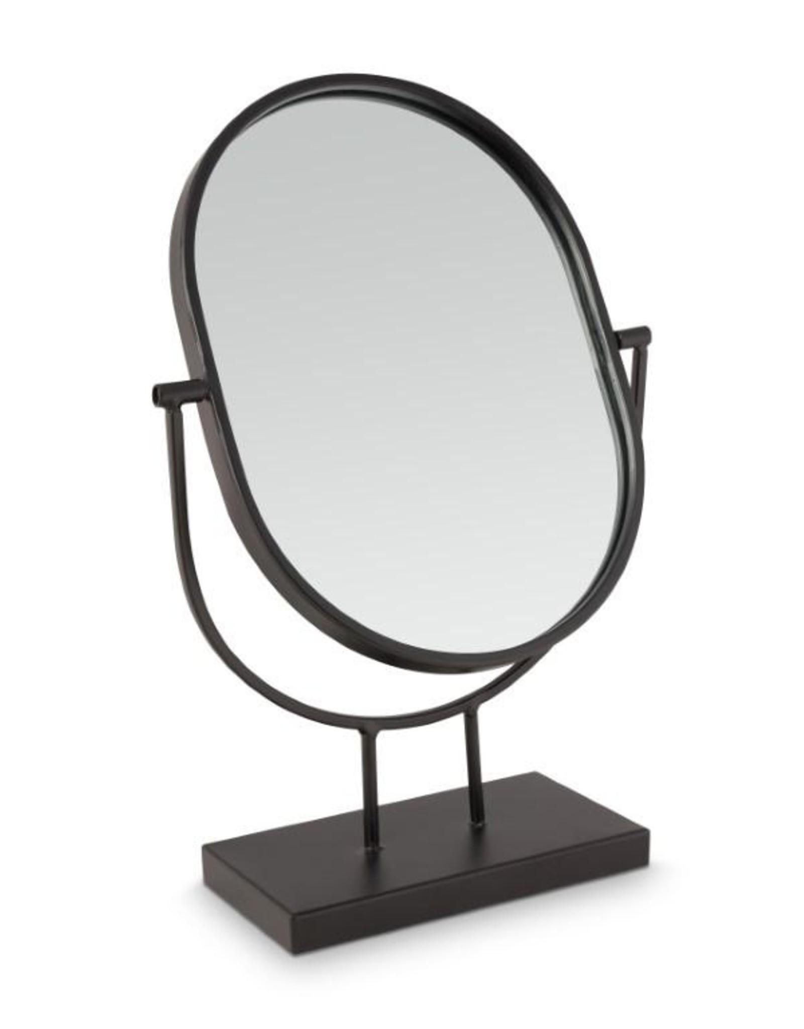 spiegel ovaal zwart staander