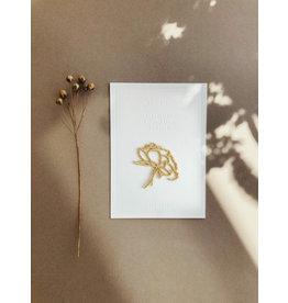 Wenskaart strijkpatch peony flower